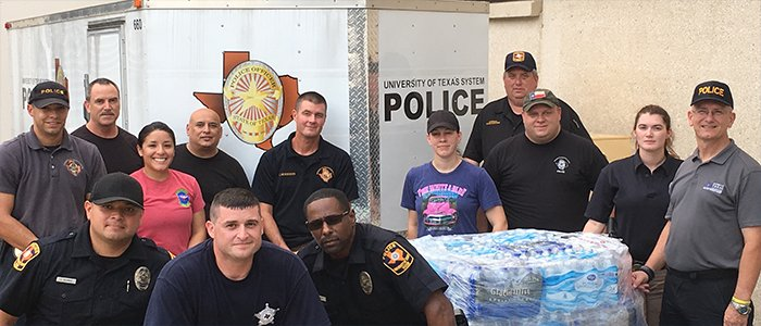 UT Police team members during Hurricane Harvey