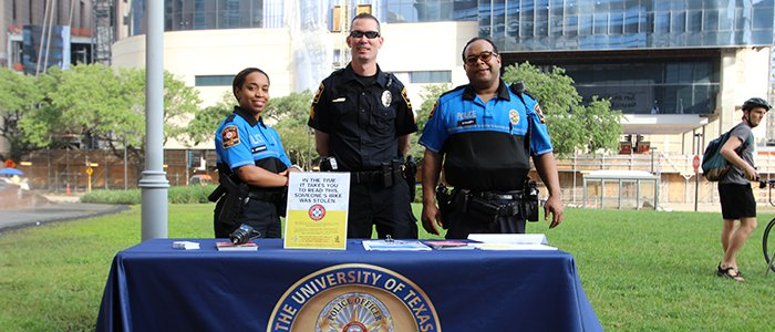 UT Police at Houston participates in Bike to Work Day in the Texas Medical Center