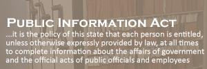 Excerpt from State of Texas's public information act.