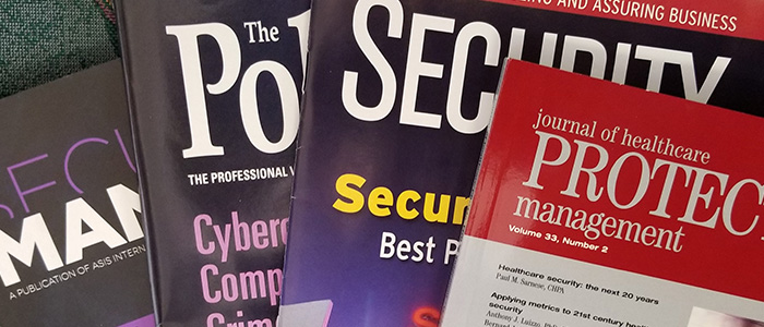 Image of a variety of security publications.