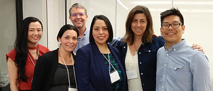 Maribel Salazar with fellow panelist, faculty and organizers